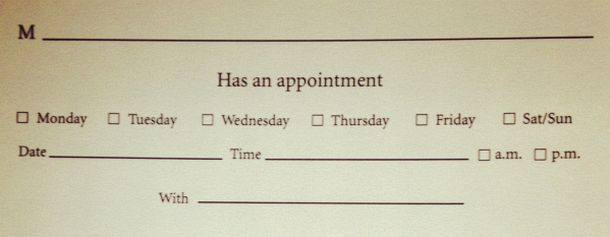 Post image for Making a Medical Appointment Isn't Enough
