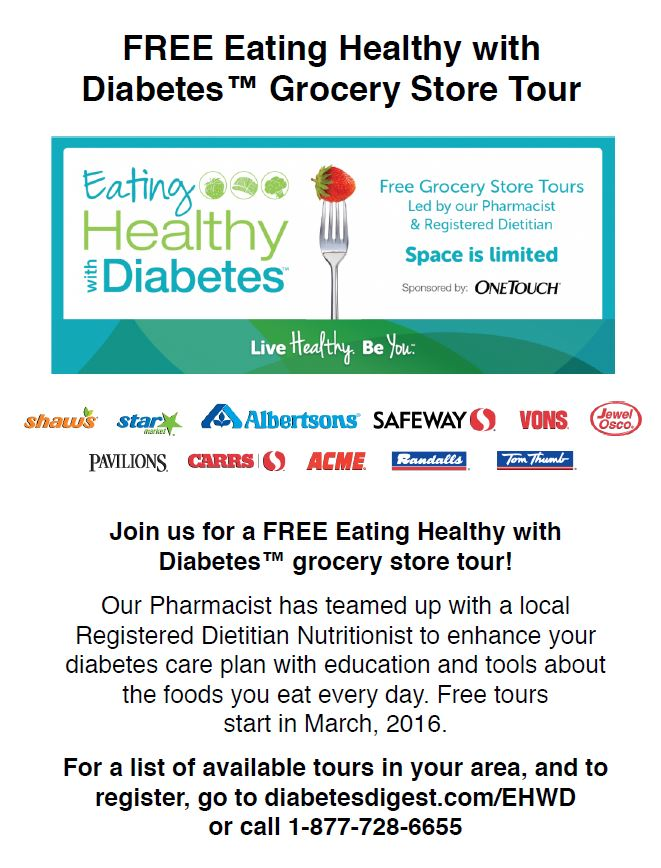 Post image for FREE Eating Healthy with Diabetes™ Grocery Store Tours